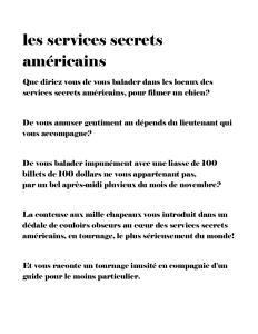 Les services secrets américains ptésentation 2