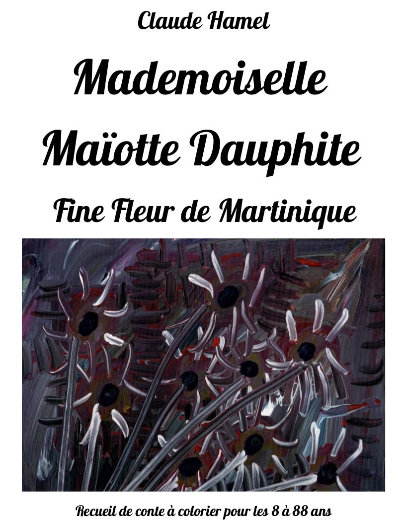 Conte à colorier Couverture Fine fleur de Martinique