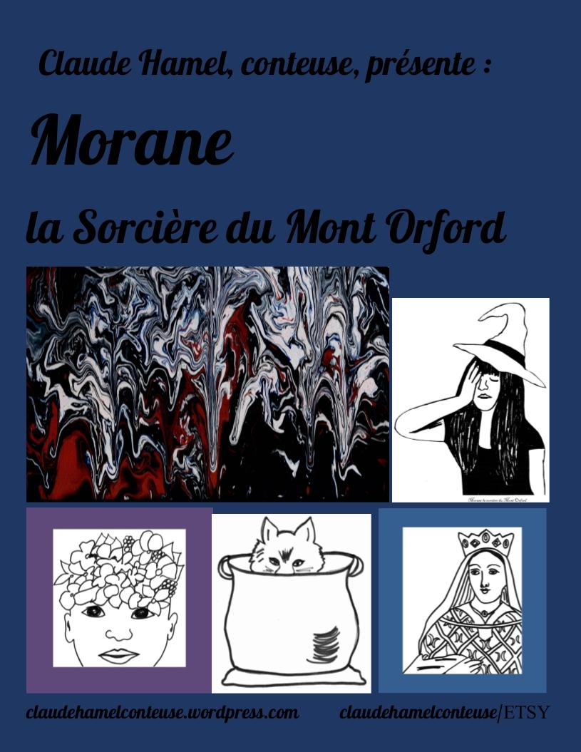 Conte à colorier Couverture La sorcière du Mont Orford
