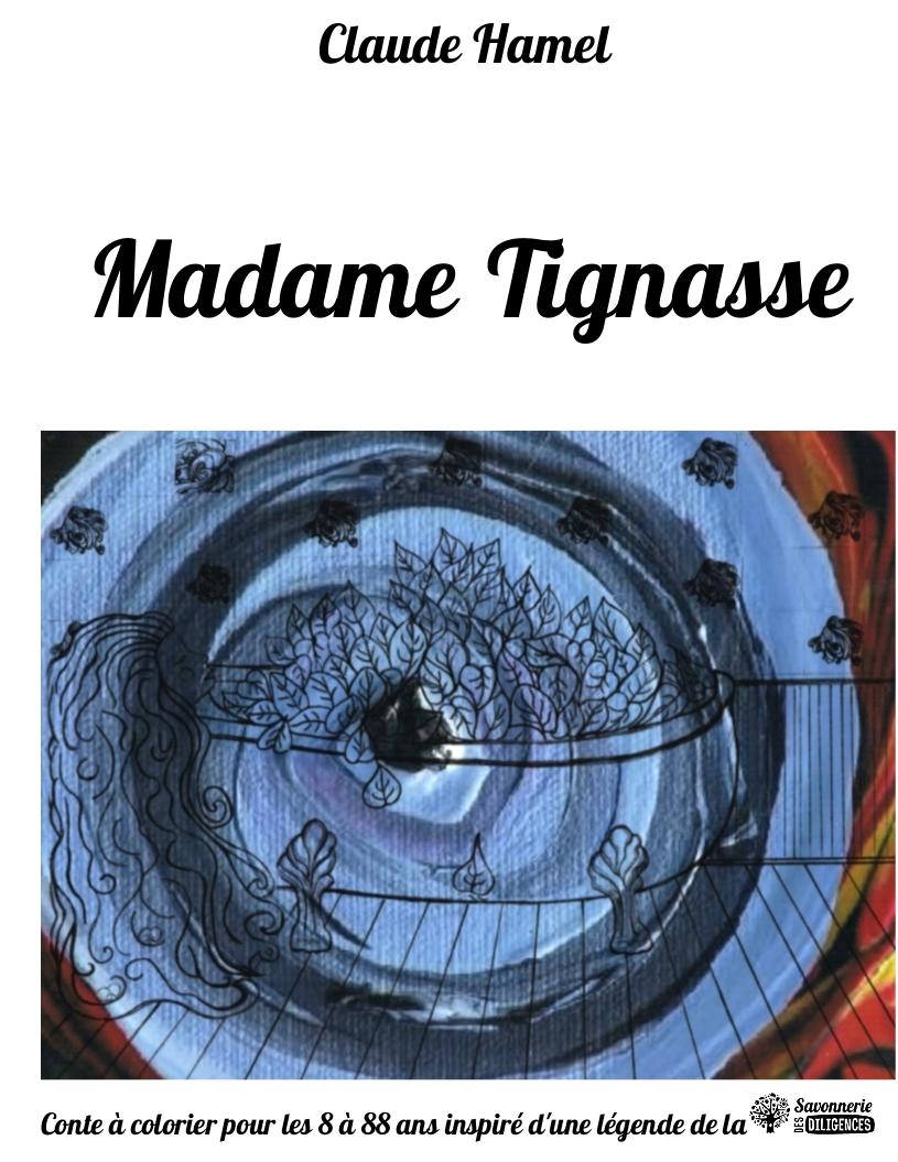 Conte à colorier Couverture  Madame Tignasse